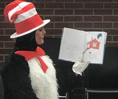 Cat in the Hat Character visits